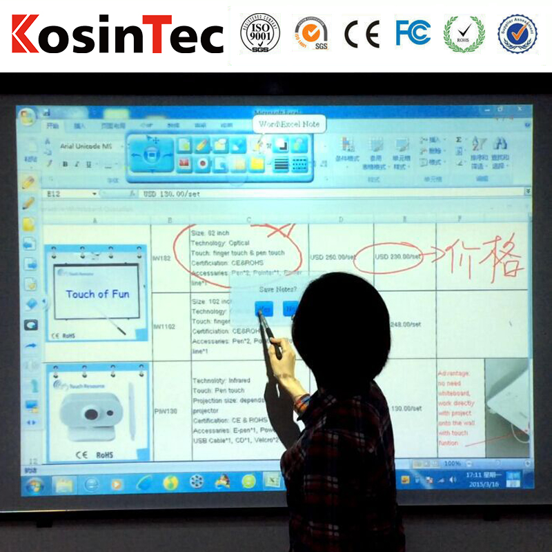 Interactive smart board GK-880T-104S best digital whiteboard ,Teaching equipment Touch screen Smart board for digital classroom.