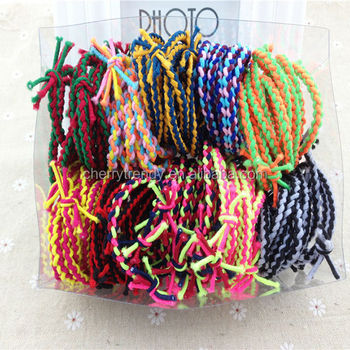 Neon Kids Rainbow Color Stretch Bracelet With Bungee Cord Buy