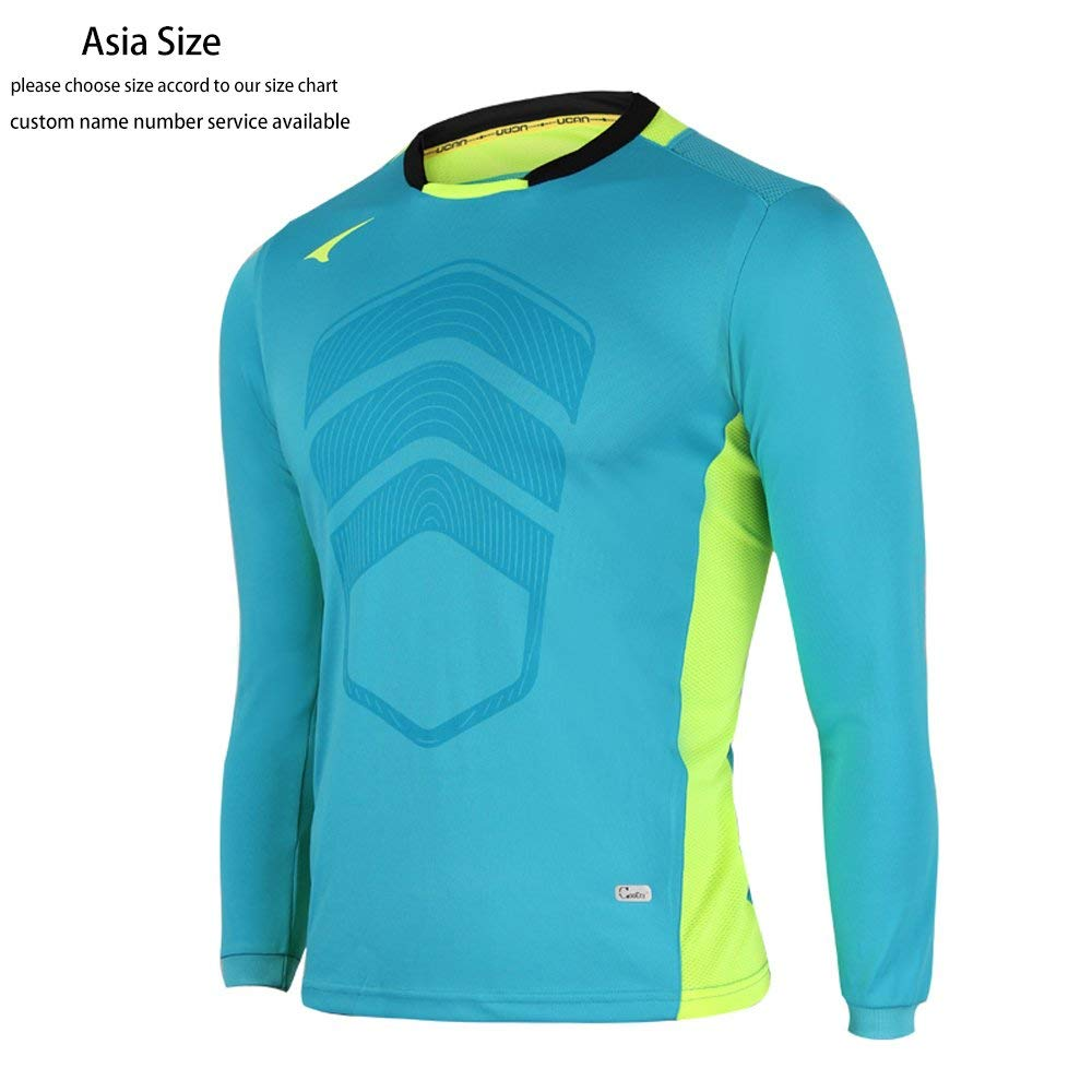 b9ce73adb Get Quotations · Ucan Soccer Goalkeeper Jersey Padded Goalie Jersey Youth  and Men K05130