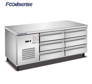 Commercial Catering Equipment Single-Temperature Salad Bar Prep Table Refrigerated Display