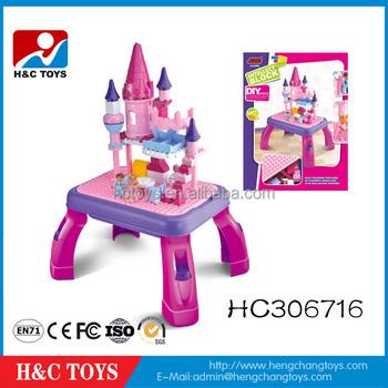 Escritorio Para Bloques Princesa Hc306716 Juguetes Juego Niños Popular Construcción Niñas De Los Más Aprendizaje Castillo 3R5L4jA