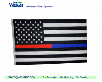 Thin Blue Line and Thin Red Line Flag - 3x5 ft with Embroidered Stars and  Sewn dd84e0e0b39