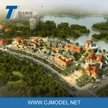 Computer render bird eye level view , architectural digital rendering from Tranka