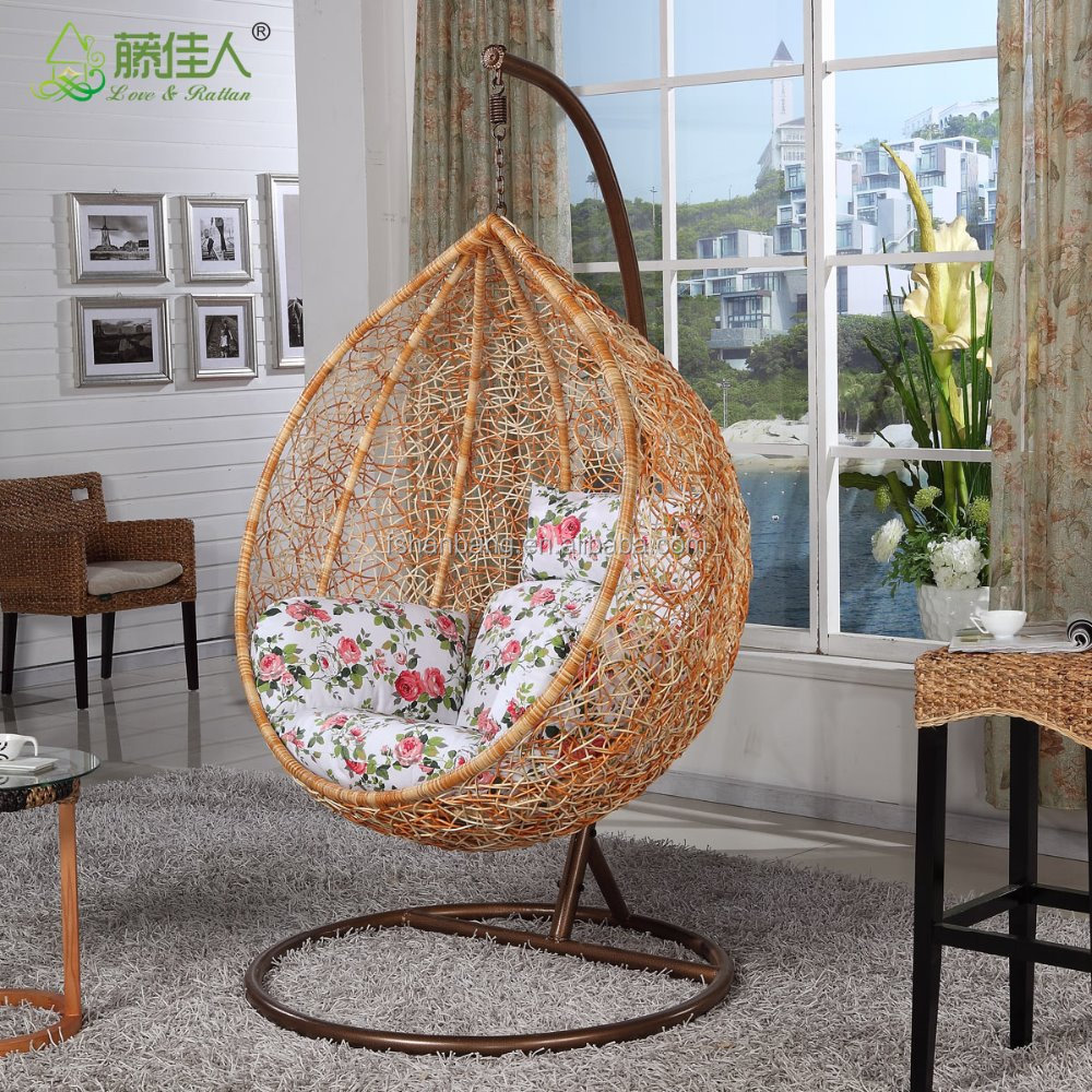 Modern Living Room Chairs Indoor Rattan Swing Chair For