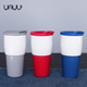 New products drinkware 350ml ceramic coffee mug with silicone lid