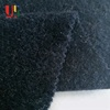Polyester breathable black cotton jersey weft yarn dyed jacquard knitted hacci fabric for t-shirt