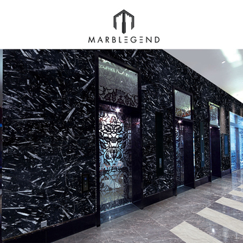 Morocco Black Fossil Marble Tile