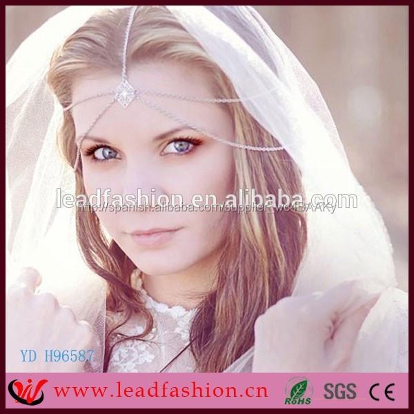 9a6585504791 venta al por mayor accesorios para el cabello diadema de novia de la boda  de pelo