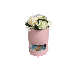 clear flower box custom printed hat box round cylinder gift box