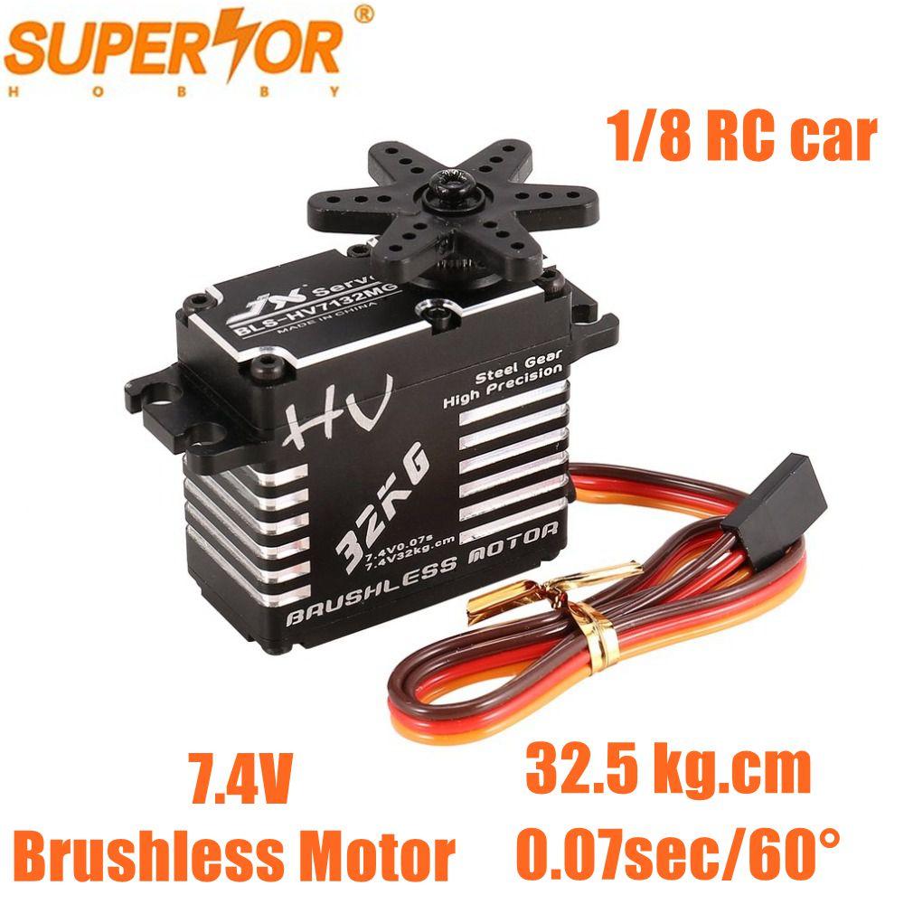 JX Servo BLS-HV7132MG 32.5KG 7.4V 0.07 sec high speed Steel Gear CNC Aluminium Digital Brushless Standard 1/5 RC car buggy truck