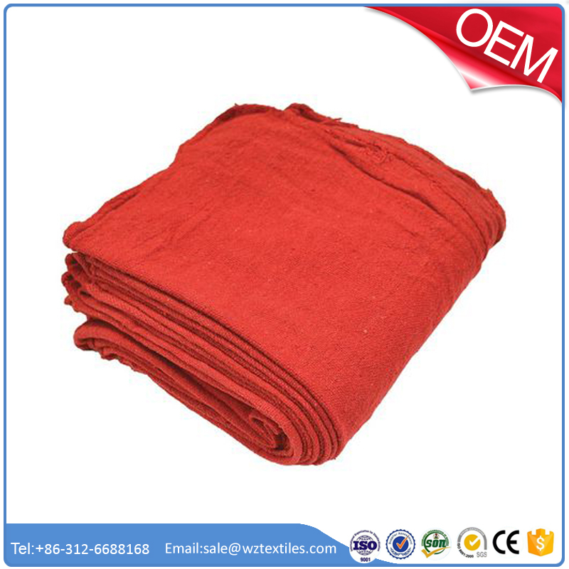 Shop Towel Factory customized 100% cotton industrial red shop towel wholesale