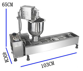 Express to worldwide 110v USA Commercial Automatic Baked Donut Machine doughnut machine With Wide Oil Tank 3 Sets Mold