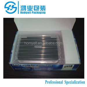 stuffing air cushion packing for DVD player,air packaging,air column buffer bag