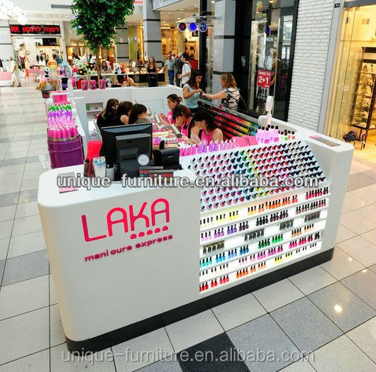 Lack manicure and predicure nail kiosk / manicure table / manicure tables for sale