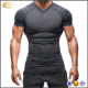 Ecoach Wholesale OEM Base Layer Short Sleeve Muscle Dry Fit V Neck Gym Workout Men Compression Sport T Shirt