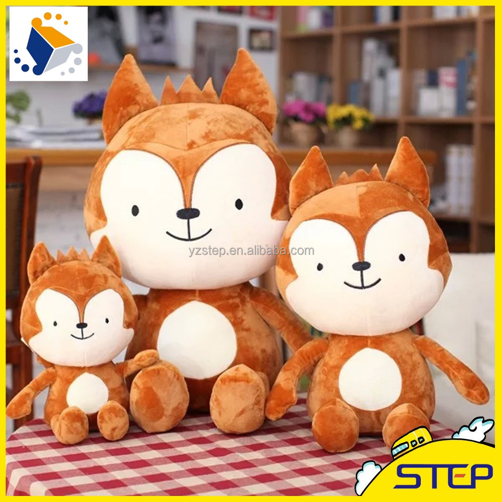 2016 Factory Wholesale Plush Fox Stuffed Animal Toys Gifts for Kids Birthday ST16030916