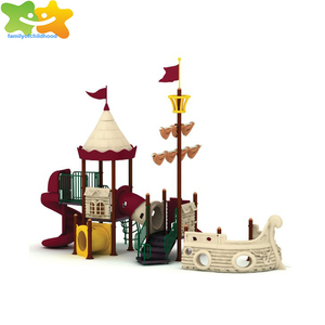 pirate theme kid outdoor plastic playground with ISO