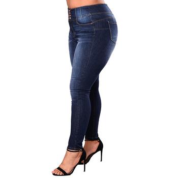 Haute Élastique Denim Pantalon Legging Foncé Haute Qualité Longue Jeans Taille Serré Femme top Buy Bleu jL5AScq34R