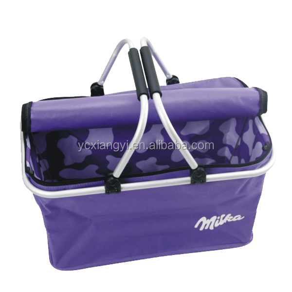 Picnic insulated tote basket, Collapsible & Foldable, strong, lightweight,easy to carry, good for fruits,picnic stuff,clothes an