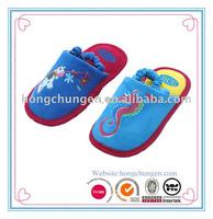 new design cute TPR outsole micro suede house slipper for children