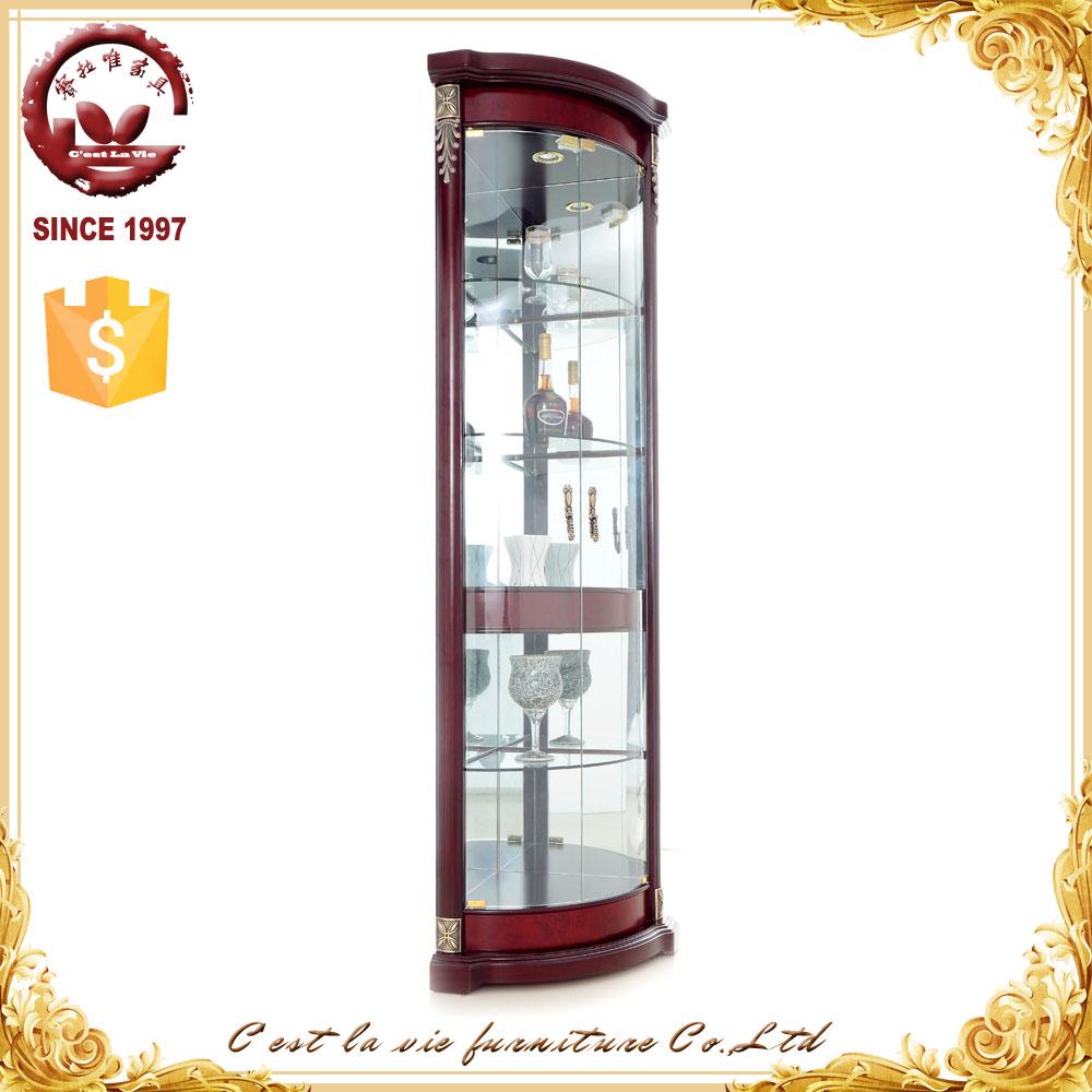 One Glass Door Furniture Wine Display Corner Cabinet Without ...