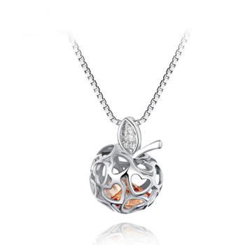 Athenaa women apple heart pendant necklace fragrance oil athenaa women apple heart pendant necklace fragrance oil aromatherapy essential oil diffuser locket aloadofball Gallery