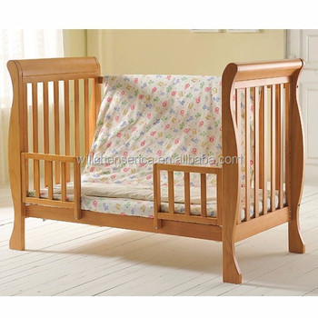 Wooden Baby Crib Bed 34419 New Zealand Pine Wood Europe Usa Style