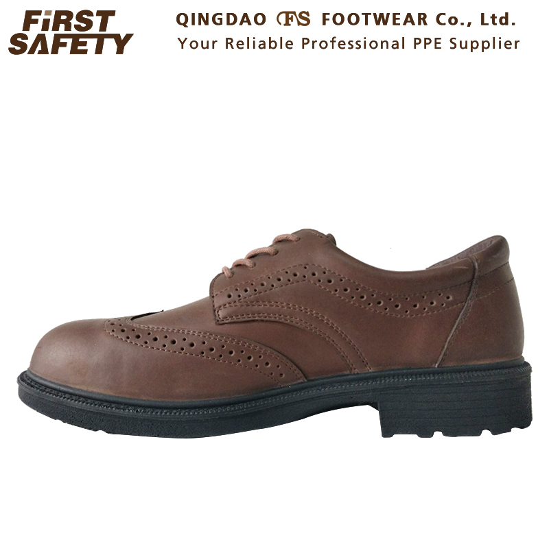 Men's Light Split FS2001 Safety Steel Brown Style Leather Casual Shoes Toe YqqEad