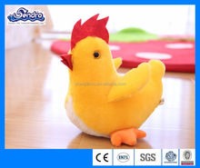 Promotional custom stuffed plush chicken toy, made in China 2016