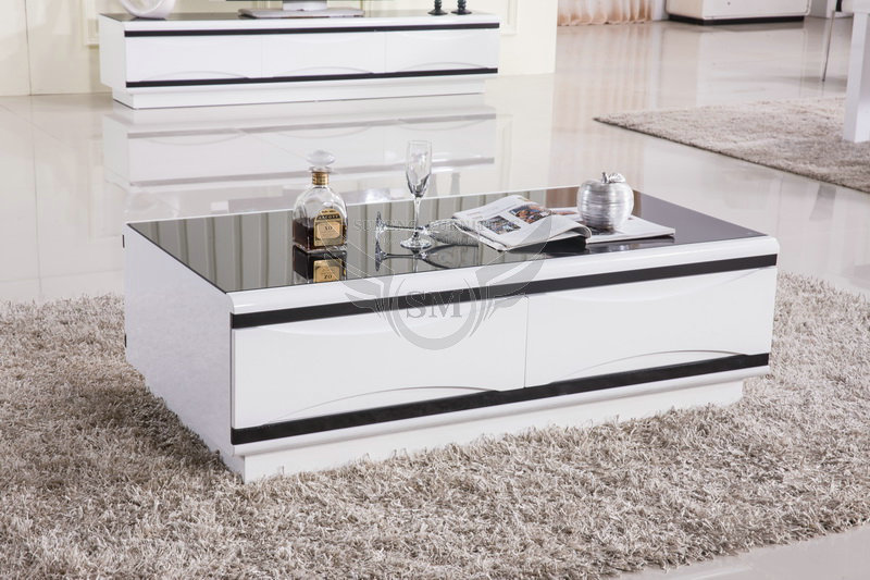 south africa fancy white tempered glass coffee table/ pictures of