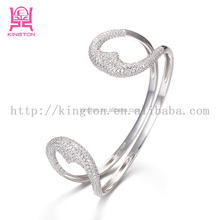 New arrival 925 sterling silver arm cuff bangle bracelet