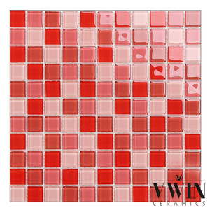 Red Lantern Glass Mirror Mosaic Tile Sheet Home Depot Kitchen Backsplash Mosaic Tile Sheet