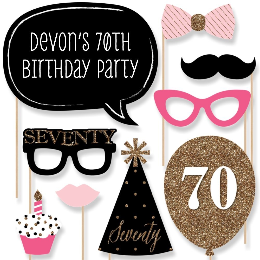 Custom Chic 70th Birthday
