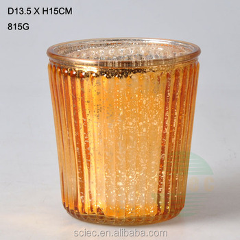 Wholesale New Design Fancy Home Goods Decorative Gold Round Glass