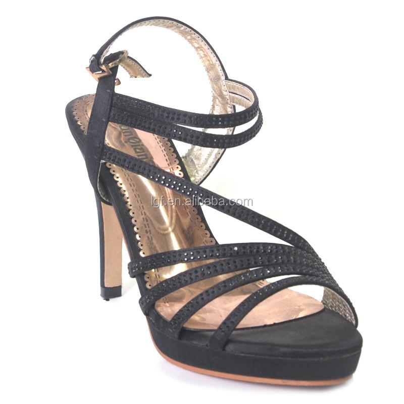 Black High Heel Shoes Women Gorgeous Party Sandal Sexy Women ...