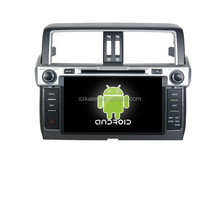 Android quad core,car navigation entertainment system,BT,MIRROR-CAST,AIRPLAY,DVR,Games,Dual Zone,SWC for Toyota 2014 Prado
