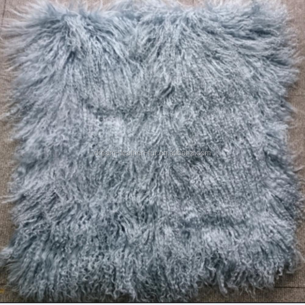 wholesale mongolian lamb fur for scarf and garment