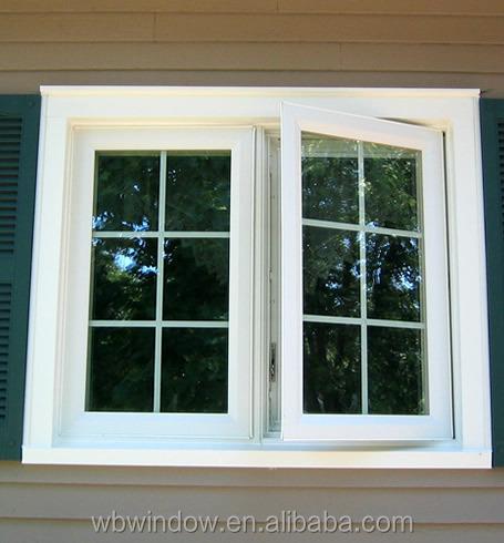 High quality double pane vinyl casement windows plastic for Double pane vinyl windows
