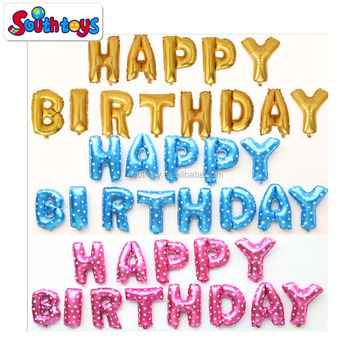 birthday party decoration foil happy birthday letters balloons