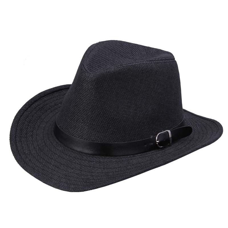 Get Quotations · Women Men Straw Western Cowboy Hat With Belt Chapeau Femme  Sombrero Summer Hat  A100  9ea72291ad2b