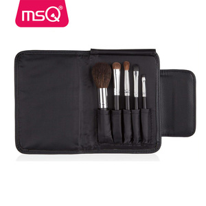 MSQ 5pcs personalized makeup brush set travel size cosmetic make up brushes for girl