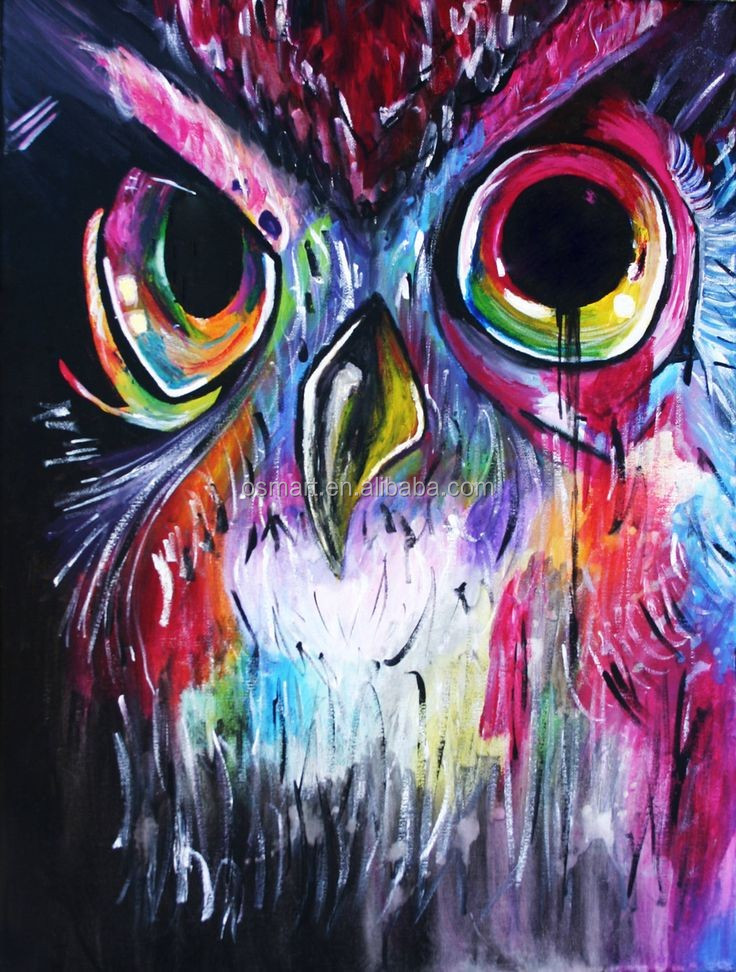 Mysterious owl classic color crazy 100%handmade classic decoration oil painting in canvas