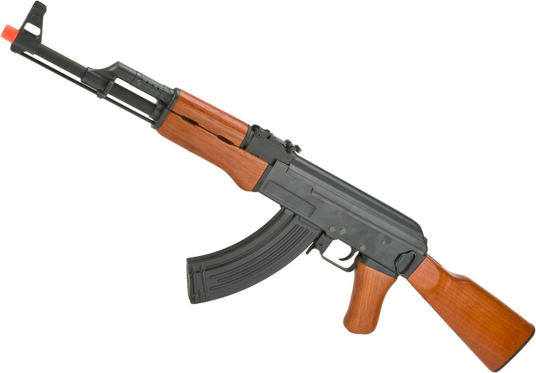 Evike AK47 Advanced Full Metal Real Wood Airsoft AEG w/Lipo Ready Gearbox by CYMA/Matrix