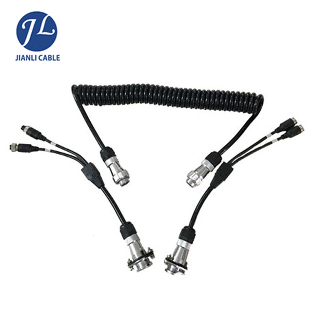 5 Pin Trailer Plug Connect 2 Camera Spiral Cable For Marine Hardware ...
