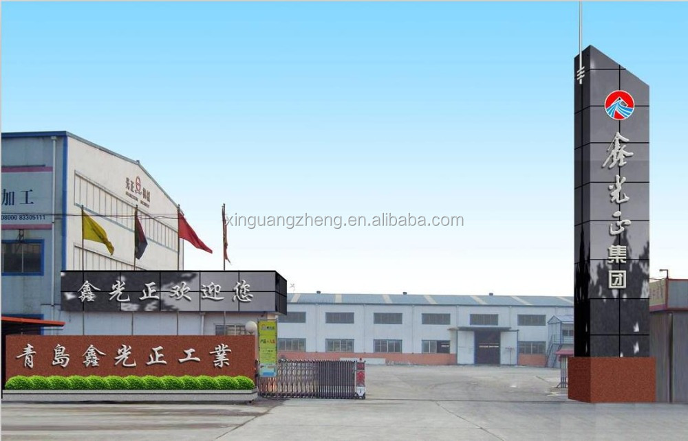 Low cost prefabricated light steel metal structure portal frame workshop