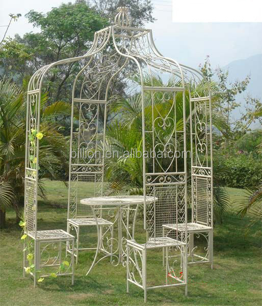 Venta caliente cenador de hierro forjado para la decoraci n de jard n otros decoraciones de - Cenador para jardin ...