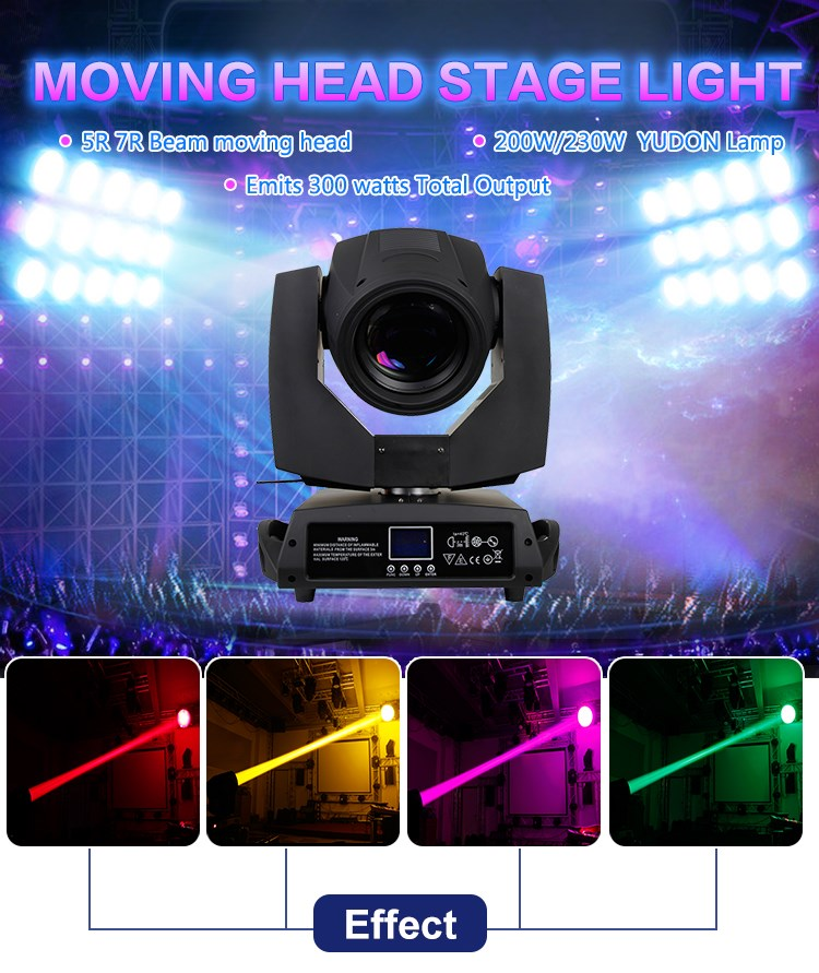 professional 200W 5R beam stage moving head sharpy dj light