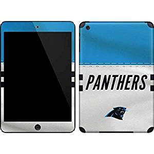 NFL Carolina Panthers iPad Mini (1st & 2nd Gen) Skin - Carolina Panthers White Striped Vinyl Decal Skin For Your iPad Mini (1st & 2nd Gen)
