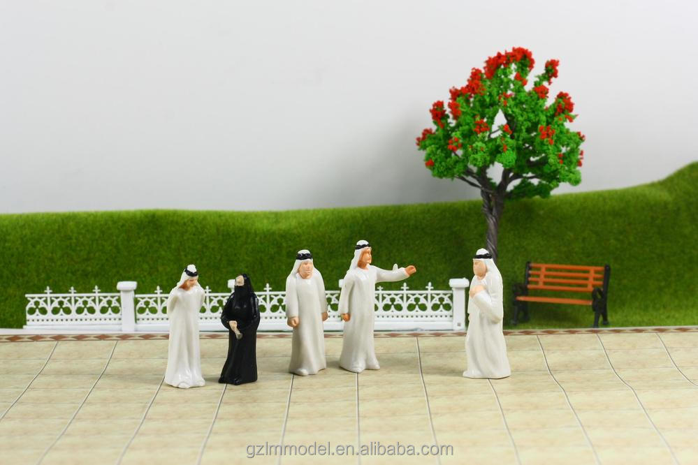 Model <strong>arab</strong> painted figures for O scale model train layout / architectural Ho scale human people