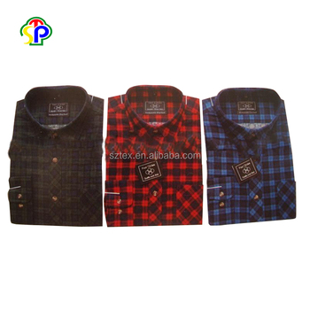 Wholesale flannel fashion men's custom shirt